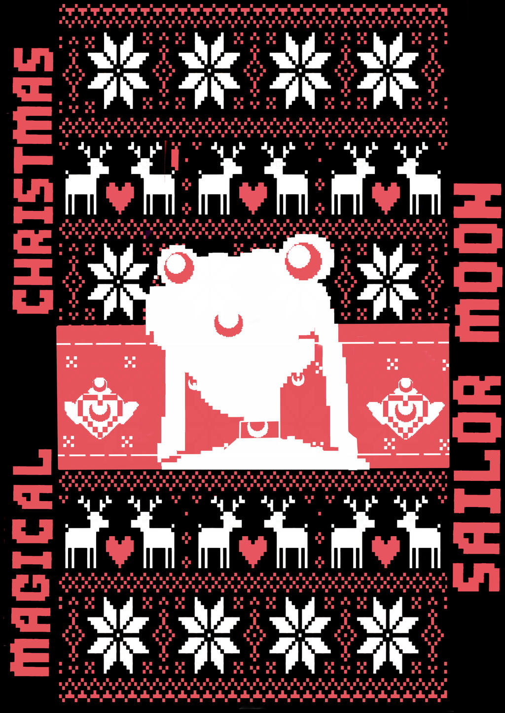 Sailor Moon Christmas Sweater.Ugly Sweater Sailor Moon By Invader Celes On Deviantart