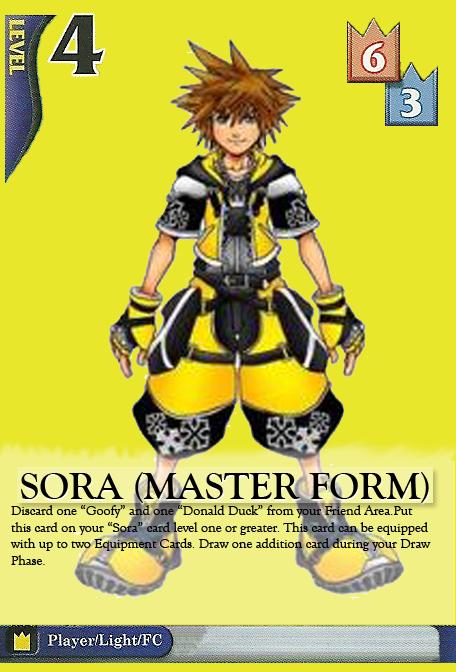 Fake Card - Sora Master Form by IndustrialIllusions on DeviantArt