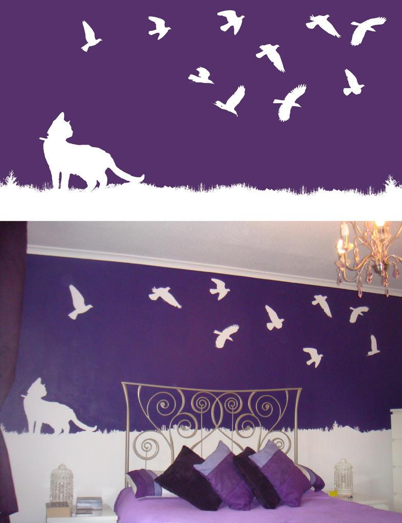 My bedroom wall design by toxicflint on deviantart - Design on wall ...