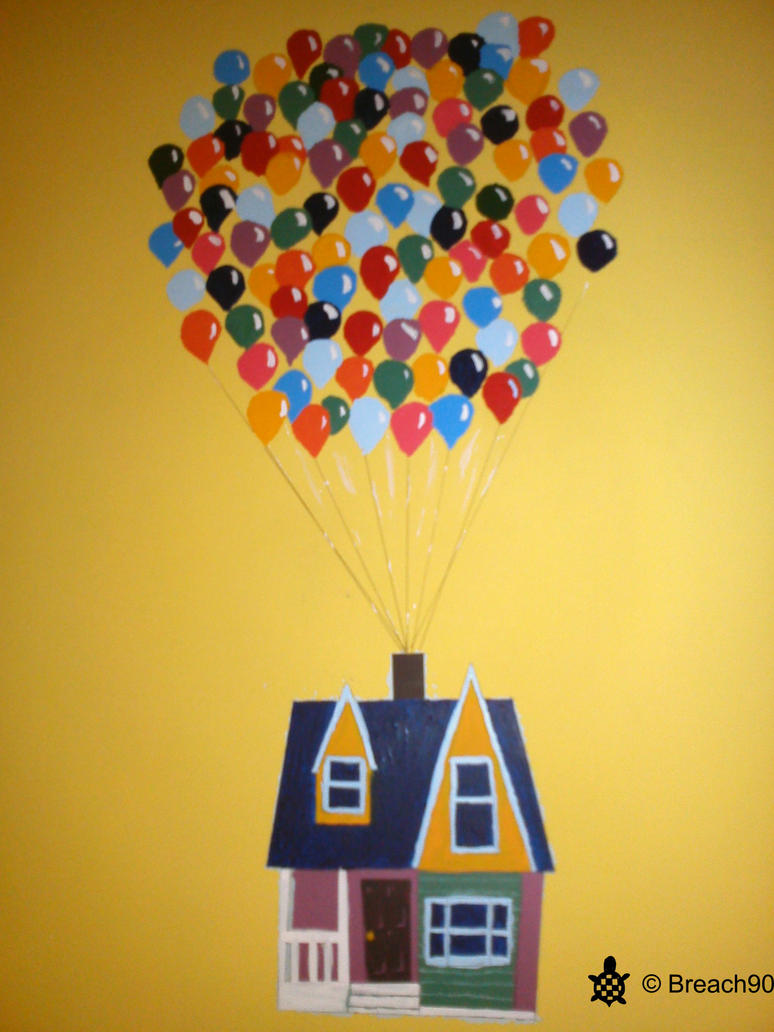 Wall painting Up house by Breach90 on DeviantArt