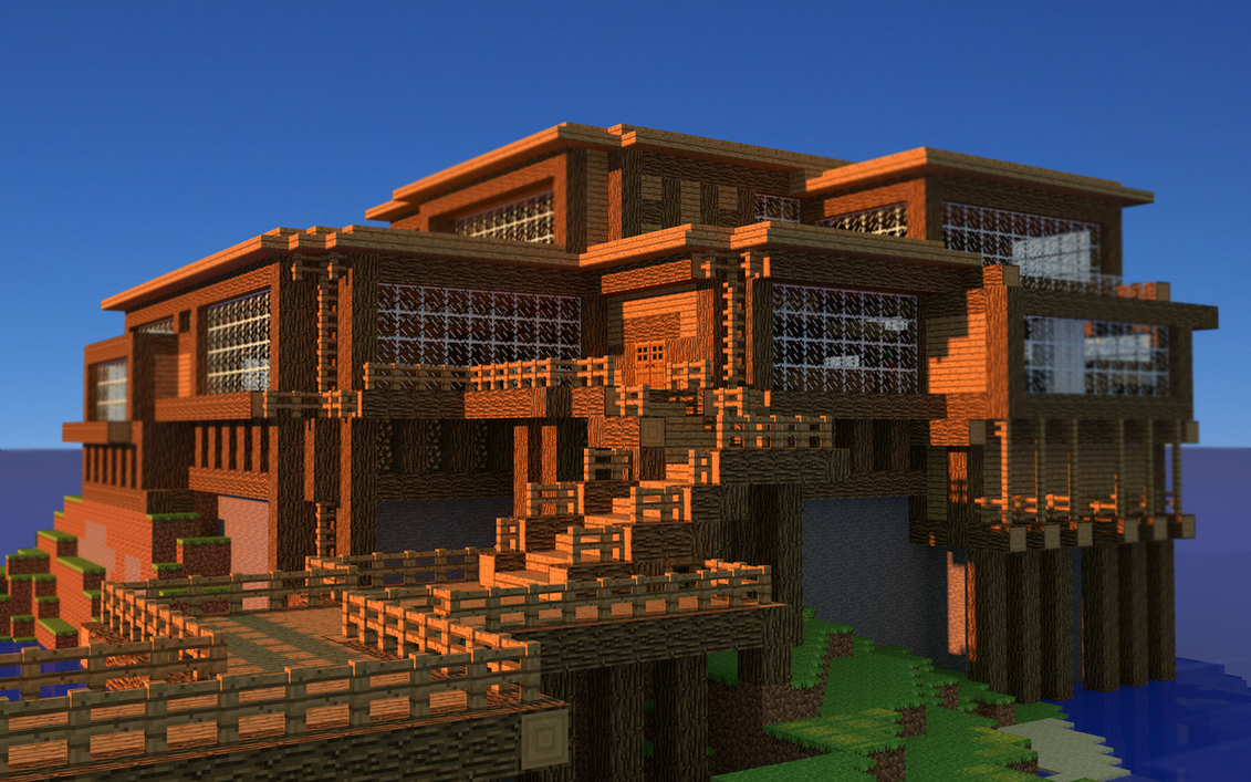 Minecraft house wallpaper hd free download by popliop for Nice home wallpaper
