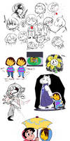 Undertale Junk and Doodles by WHATiFGirl
