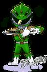 Commission - Green Chibi Ranger