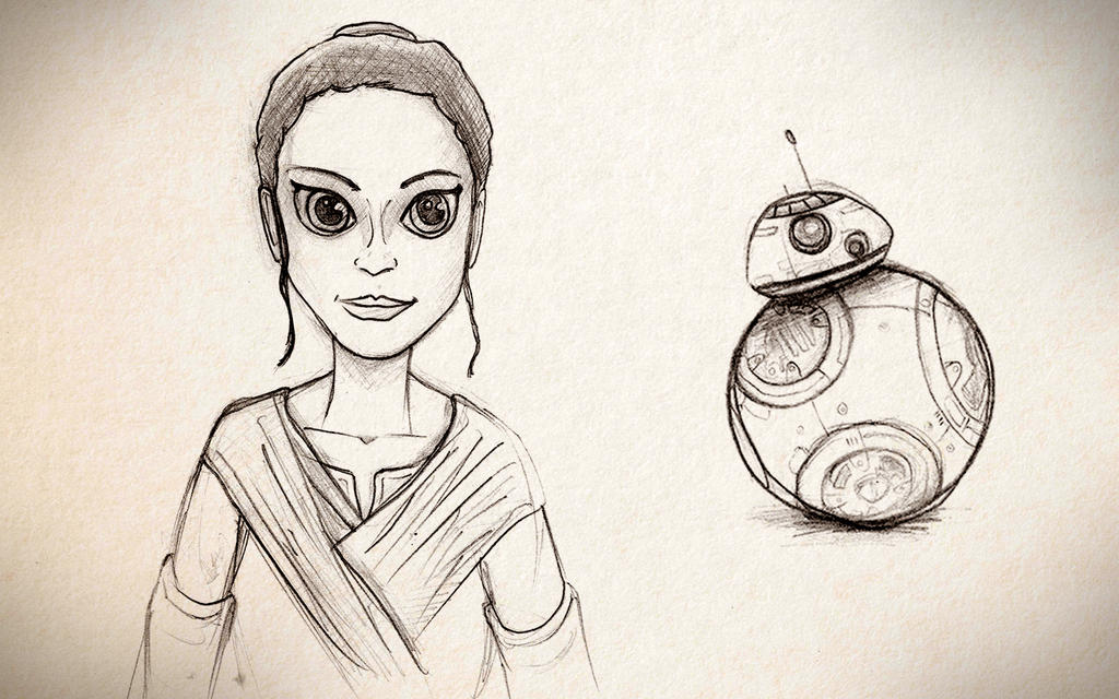Rey and BB-8 by rkm424