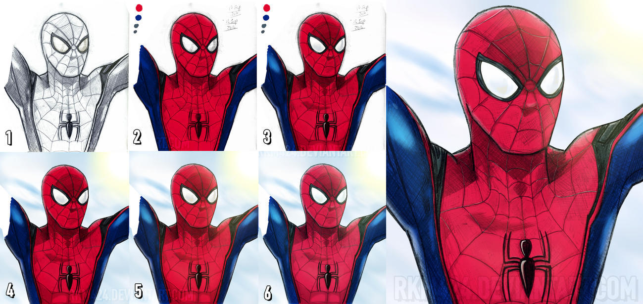 Spider-Man (Civil War/Homecoming Style) Process by rkm424