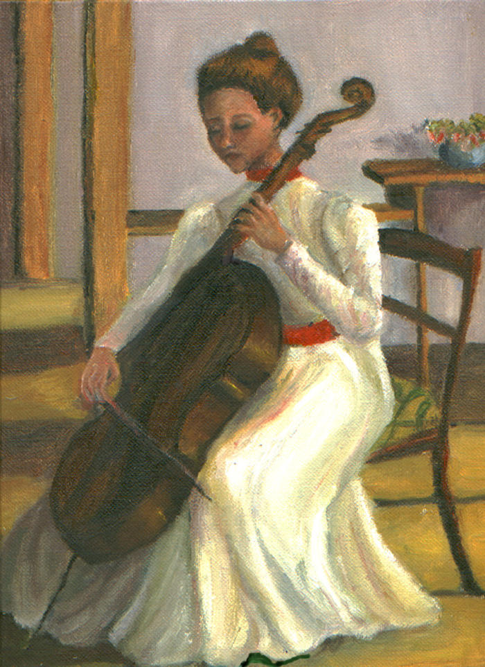 girl playing cello by zarney on DeviantArt
