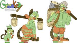 Grokey:gen 8 pokemon evolution line grass starter