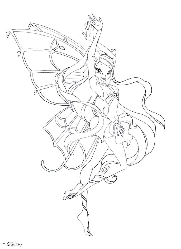 Winx stella bozzetto by ladymadge on deviantart for Winx stella coloring pages