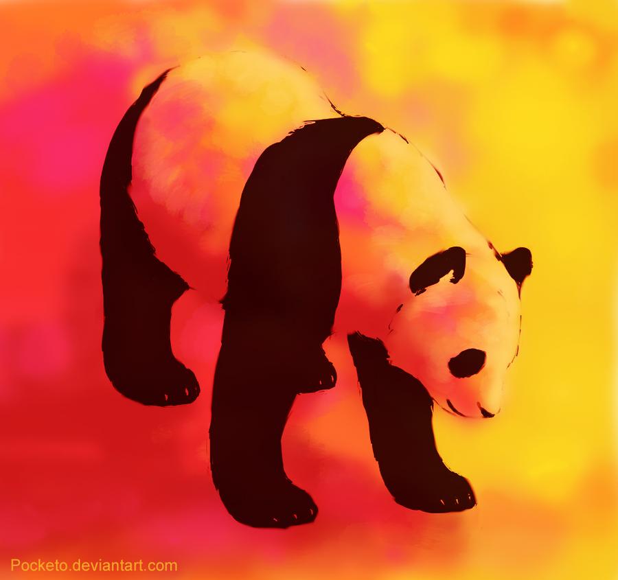 colorful panda by pocketo on deviantart