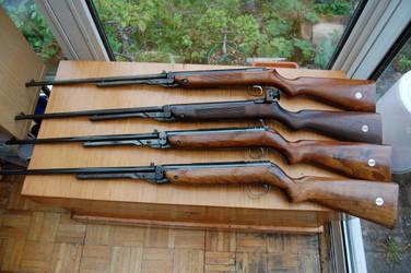 Four Webley mk3 air rifles.. by johnbaz