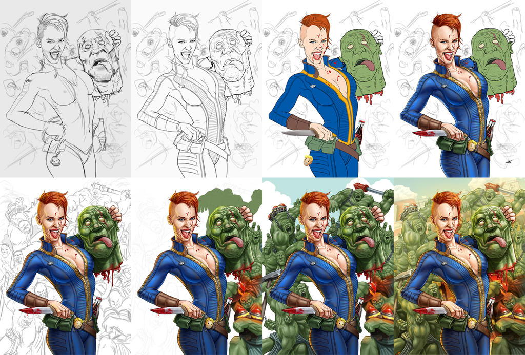 Nuka-Maiden: A Fallout Story / Step by step by Billy-zam