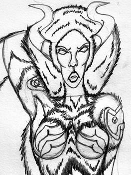 Flying-Sudali 0 (Pencil-Portrait)
