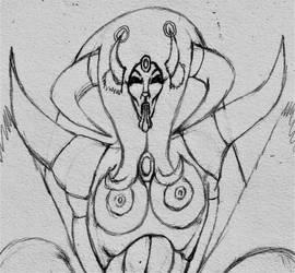 Mun-Da Trophy-Drawing 1 (Portrait of Chimera)