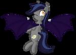 Echo the bat pony winking