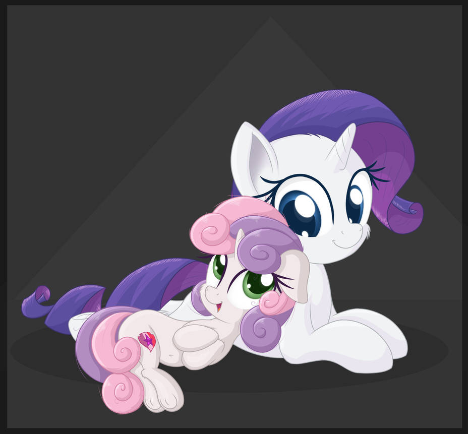 sweetie_belle_and_rarity_happy_by_vector