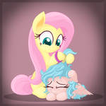 Fluttershy and Cozy Glow