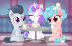 Rumble, Flurry and Cozy party