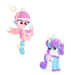 Cozy and Flurry snowball fight by VectorVito