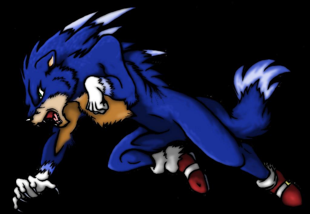 Sonic the werehog (COLOR) by SoniKwolf1498 on DeviantArt