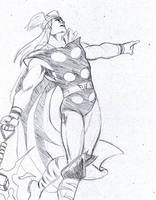 Sketching with ballpoint: Thor by Ragnaroker
