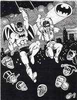 Batman and Robin Swing by Ragnaroker