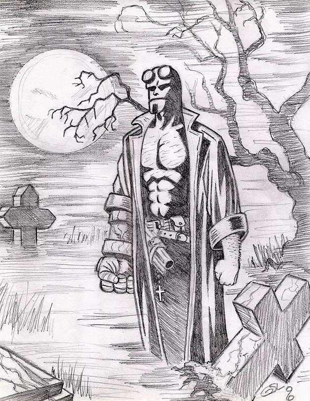 Hellboy Gravedigging by Ragnaroker