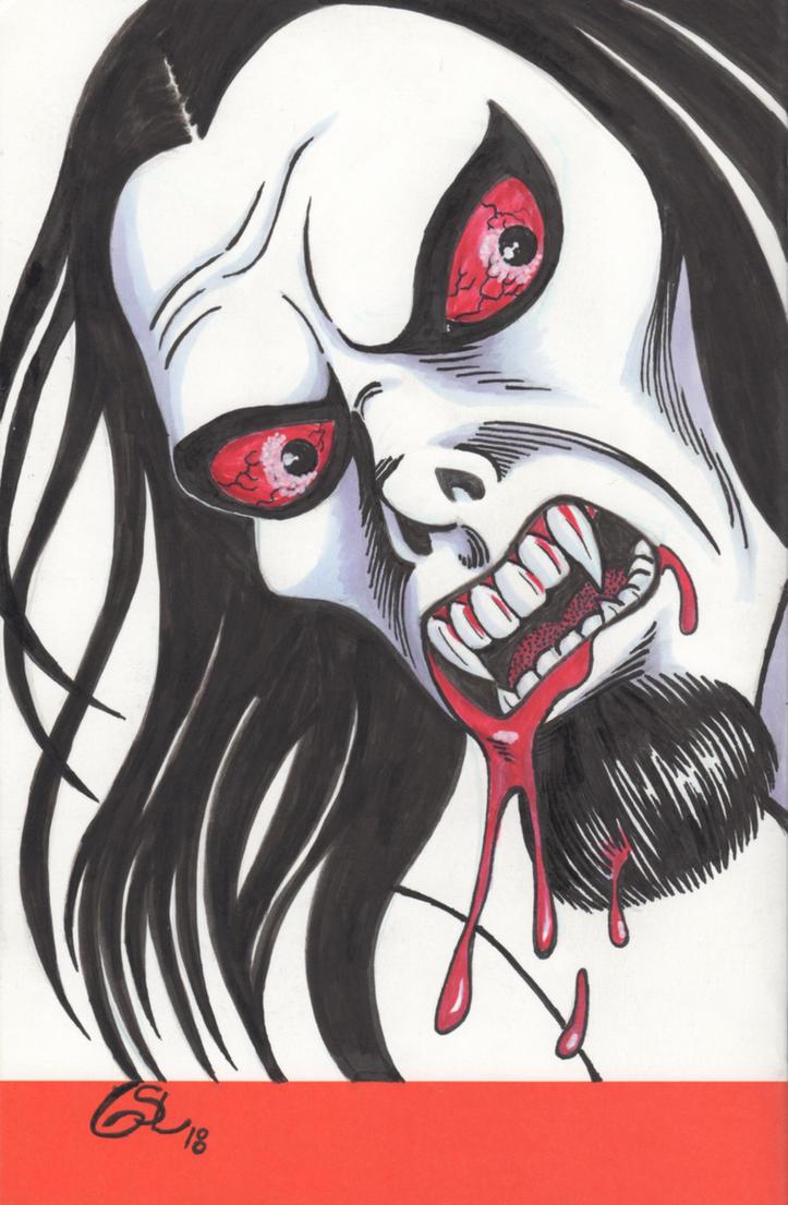 Morbius the Living Vampire sketch cover by Ragnaroker