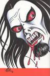 Morbius the Living Vampire sketch cover