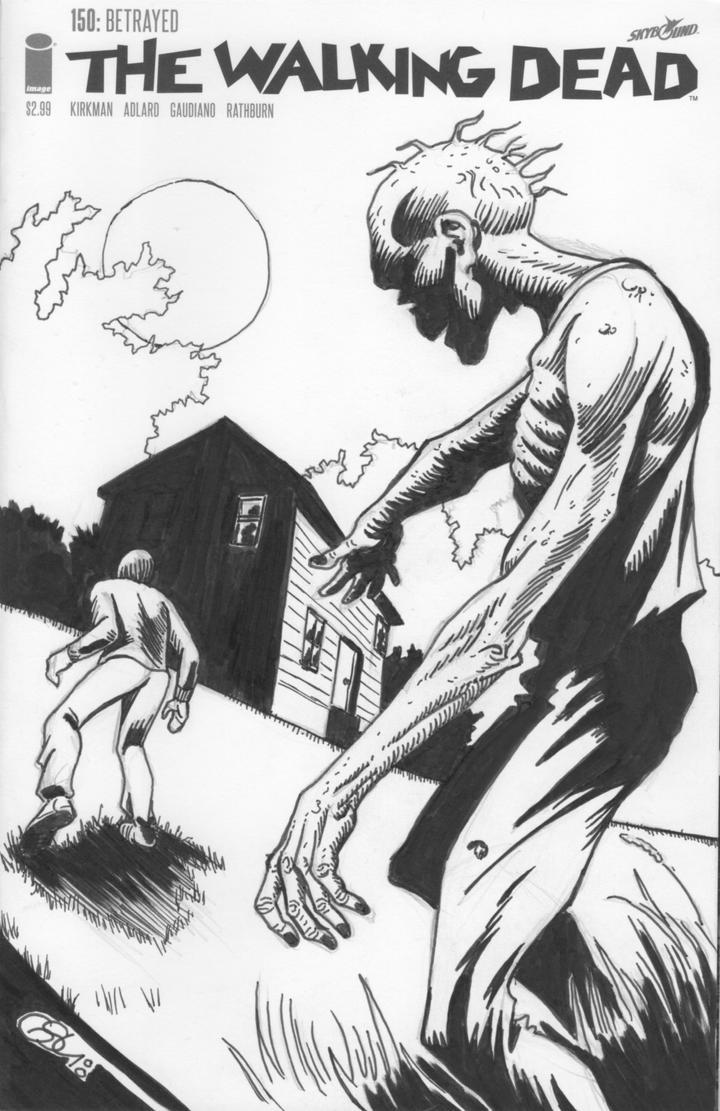 The Walking Dead #150 (sketch cover) by Ragnaroker