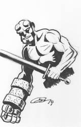 Hellboy with Sword