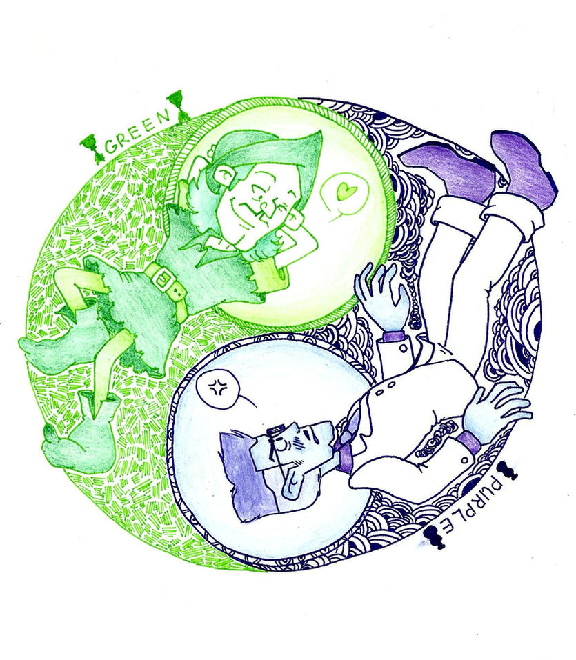 Purple and Green by SecretLightness