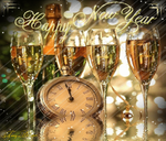 Happy New Year 001 by AzureRayArt