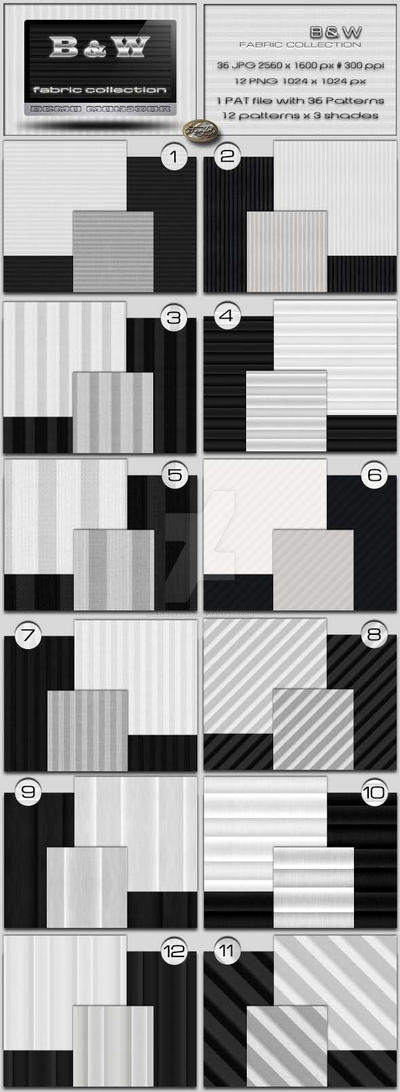Black and White Stripe Fabrics by AzureRayArt
