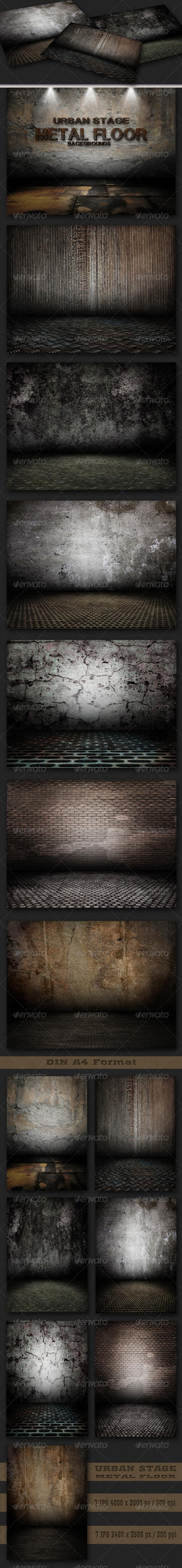 Urban Stage - Metal Floor Set by AzureRayArt