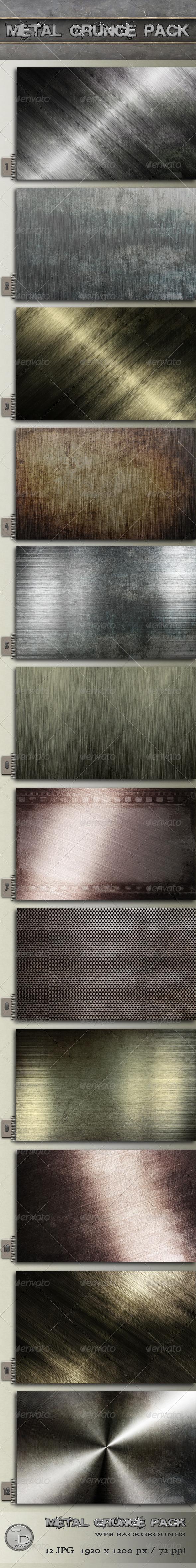 Metal Grunge Pack by AzureRayArt