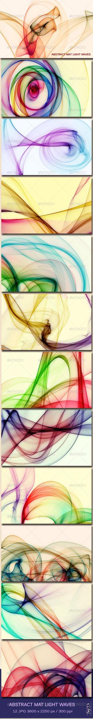Abstract Mat Light Waves 1 by AzureRayArt