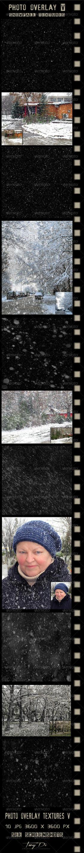 Photo Overlay V | Snowfall Textures | GR by AzureRayArt