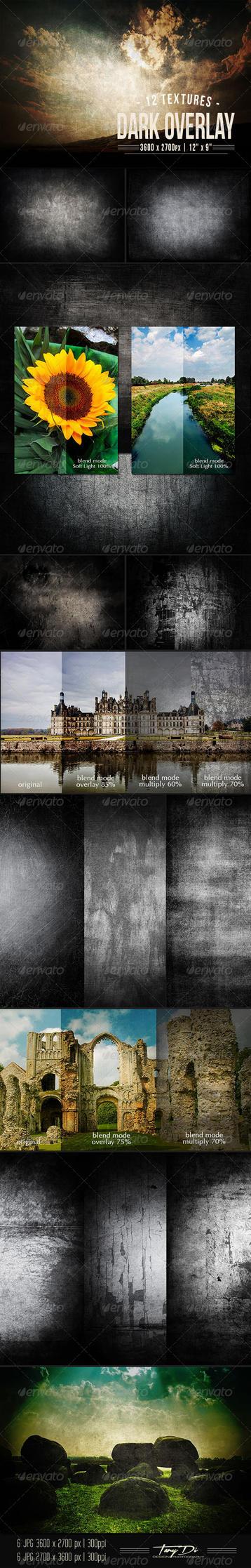 Dark Overlay Textures by AzureRayArt