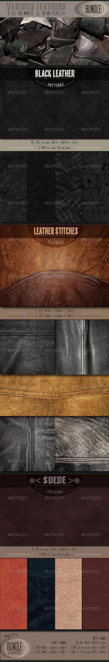 Various Leathers | Bundle by AzureRayArt