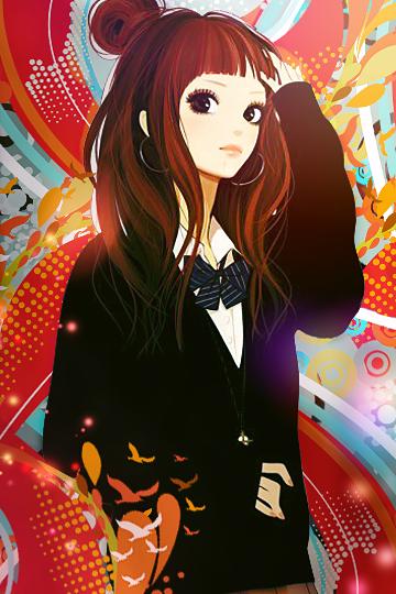Anime girl phone wallpaper by saysay228 on deviantart - Anime girl on phone ...