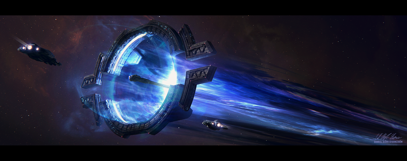 Hades' Star - Warp Lane Hub by GabrielBStiernstrom