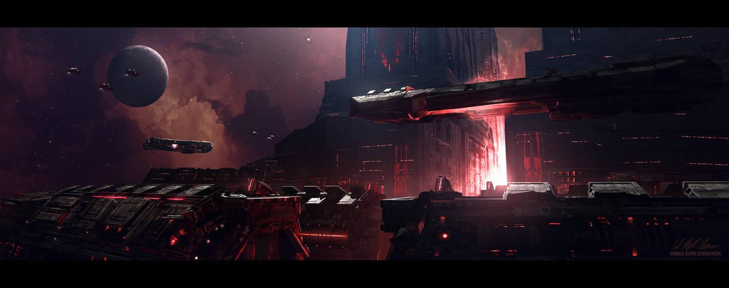 Hades' Star - Cerberus Station by GabrielBStiernstrom