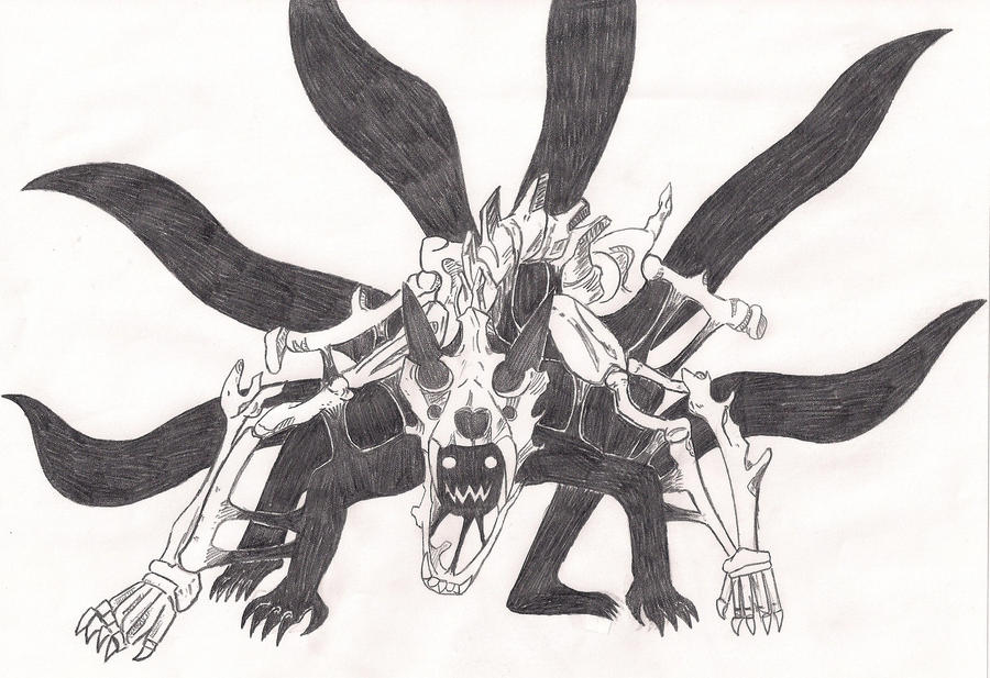 Naruto Nine-tailed form by xEnmaKozatox on DeviantArt