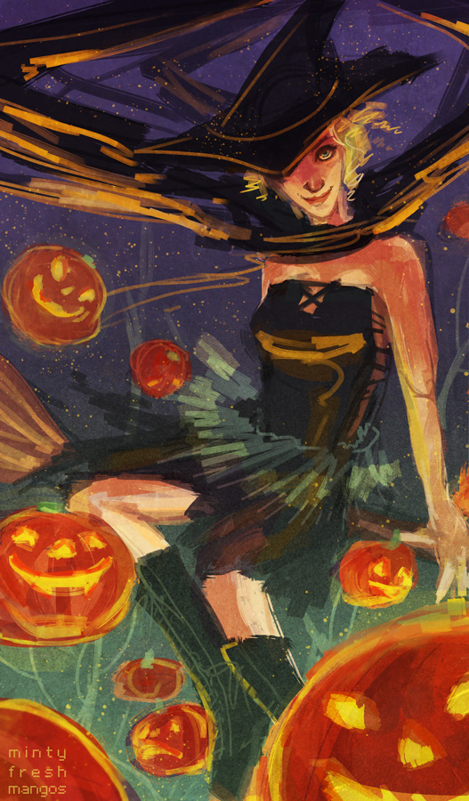 SketchOct 16: Halloween by mintyfreshmangos