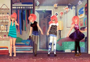 SD8.30.14: All the outfits again again by mintyfreshmangos