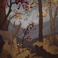 Deer in ship lights