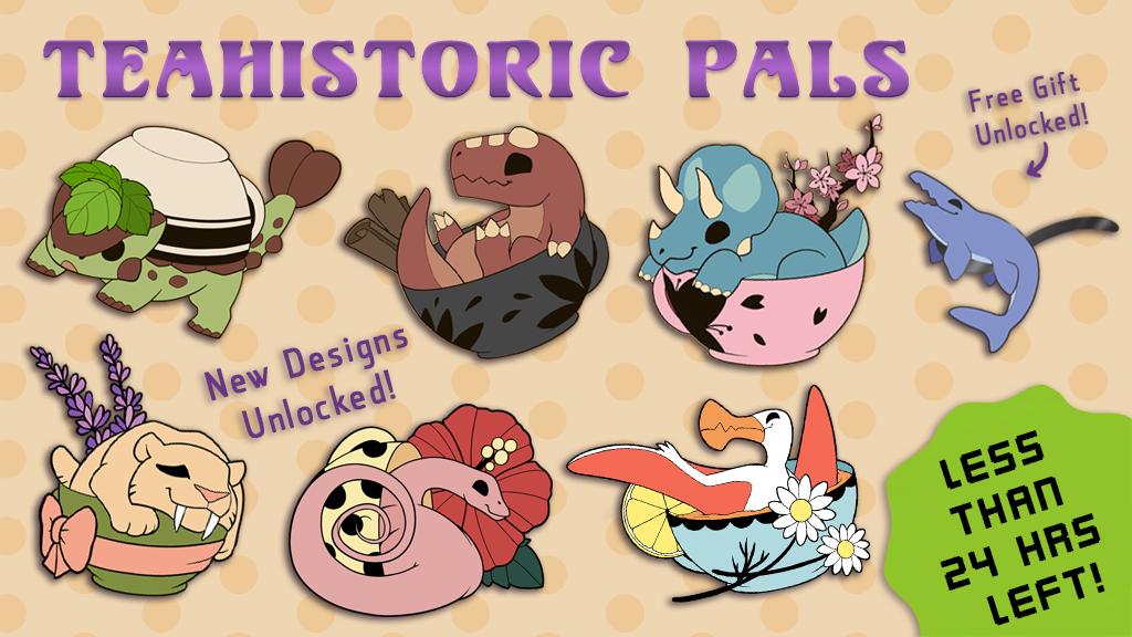 Teahistoric Pals Enamel Pins