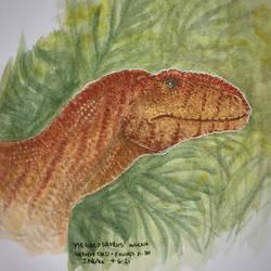 'Megalosaurus' water color test