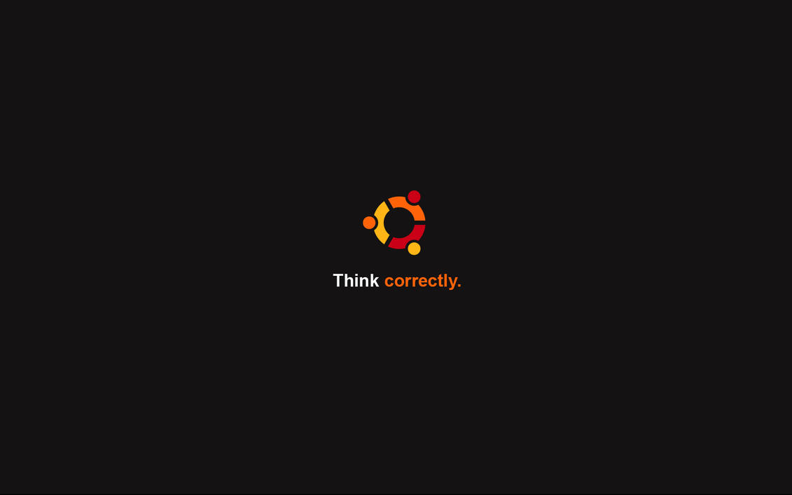 Think correctly - Ubuntu by cyric80