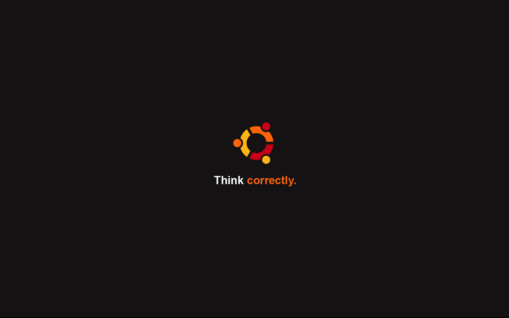 Think correctly - Ubuntu by cyric80